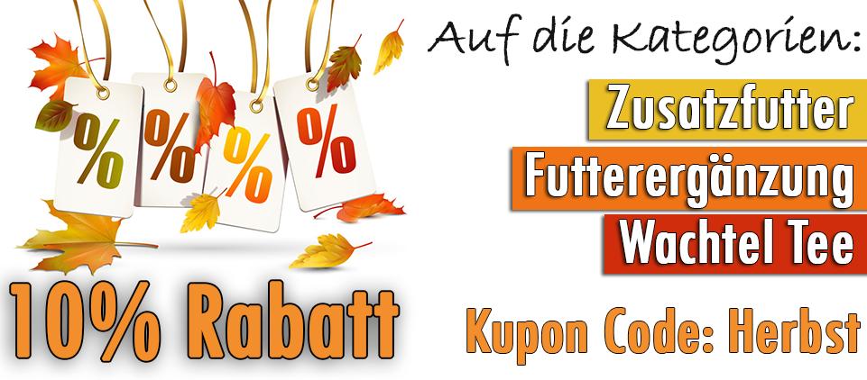Herbst Rabatt Wachtel Shop